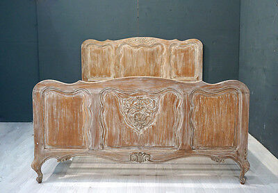 Vintage French Shabby Double Bed (BR284)