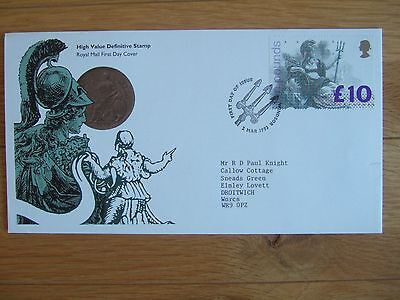 Great Britain 1993 £10 Britannia High Value First Day Cover Windsor Special Hs