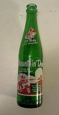 "Rare (Style 2-Two Sides)Canadian  ""mountain Dew"" 10 Oz ""filled By Clem And Gert"""
