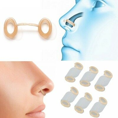 6pcs Silicone Open Airway Snore Stopper Anti Snoring Breathe Better Increase Air