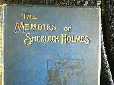 The Memoirs of Sherlock Holmes 1894 Conan Doyle Delux 1st first Edition 1st imp.