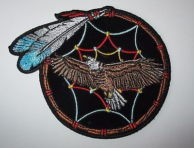 Beautiful Detailed Eagle Feather Dreamcatcher Patch Sew/Iron Rider biker Vest