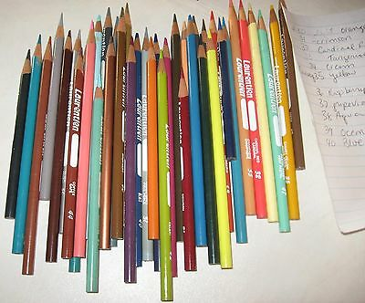 lot of High # Numbers  mixed colors & sizes Laurentien colored pencil crayons
