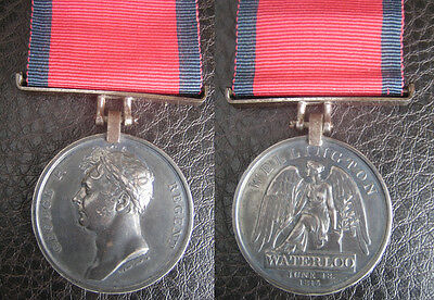 Waterloo 1815 Medal To Officer With Good Peninsular War Service