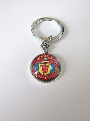 1pc manchester united badge football keyring