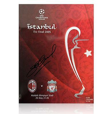 Stevie G Signed on 13/4/17 LIVERPOOL Programme - Istanbul 2005 Final £65