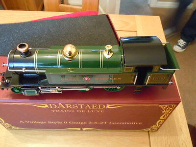 Darstaed o gauge Great Western 2-6-2 T 3x Rail DC 0-24 volts.Boxed Mint