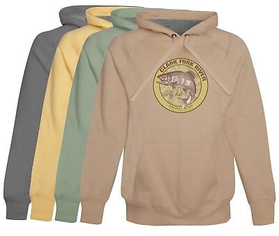 Clark Fork River Fly Fishing Hoodie Fleece  soft cotton Mens Fly Fishing Gift