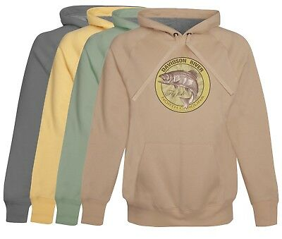 Davidson River Fly Fishing Hoodie /Fleece soft cotton Mens Fly Fishing gift