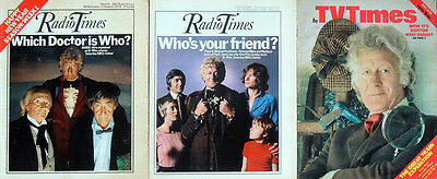 Radio Times / Tv Times Doctor Who Jon Pertwee Front Covers 1973 / 1974