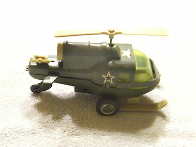 Vintage RARE Durham Industries USMC Wind-up Plastic Toy Helicopter - Japan -