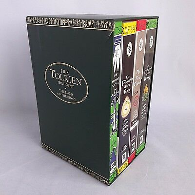 JRR Tolkien Boxset Lord of The Rings Trio and The Hobbit 4 Books in Slipcase