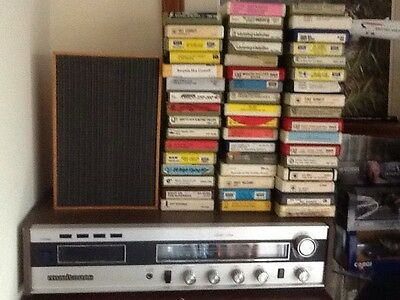 Solid State 8 Track Player With A.m. / F.m. Tuner. With 50 Tapes And Holder.