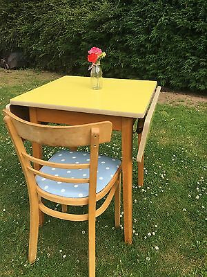 Yellow Formica Table And Chair