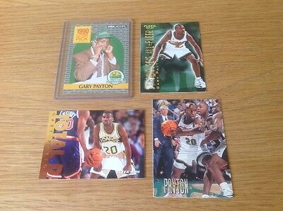 Job Lot Gary Payton NBA Basketball Trading Cards Inc Rookie Card