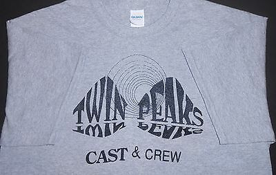 Twin Peaks  90/91 Crew/cast  T Shirt Reproduced From Original Sz L