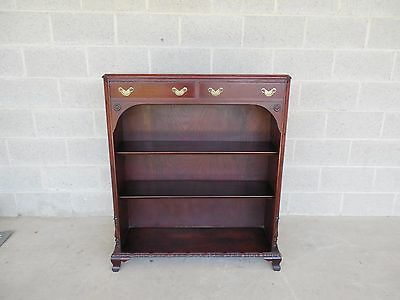 Colonial Manufacturing Co. Honduras Mahogany Chippendale Style Bookcase 37w  42h