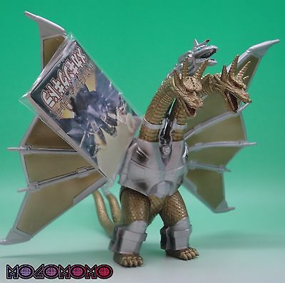 MECHA KING GHIDORAH with tag 1998 GODZILLA BANDAI monster figure from Japan !