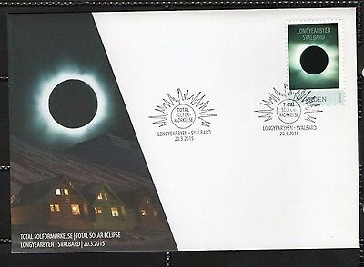 2015 NORWAY FDC Total Solar Eclipse, Svalbard