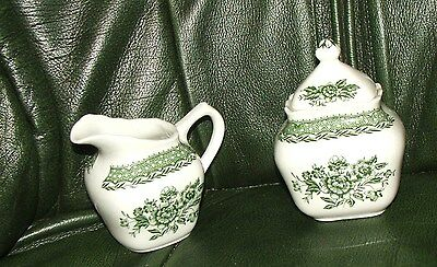 Vintage MILK JUG SUGAR POT STRADFORD GRINDLEY STAFFORDSHIRE PORCELAIN