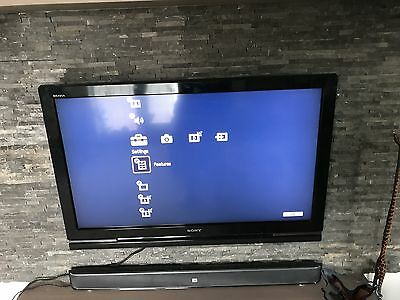 Used Sony 40 inch LCD HD TV 1080P Black with Stand - Model No: KDL-40W4210