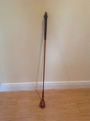"Rare Antique ""The Spalding"" 1897 Semi-Long Nose Splice Neck Wood Shaft Club"