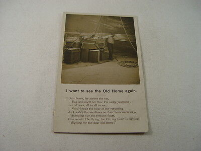 SAP078 - Postcard - I Want to See The Old Home Again 1904