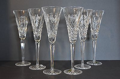 Waterford crystal Twelve Days of Christmas Flutes 1 to 6