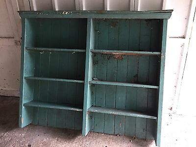 Large Victorian Dresser Top Painted Green Bookshelf Shabby Chic