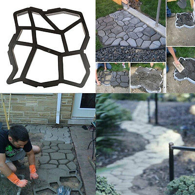 Paving Pavement Mold Patio Concrete Garden Walk Path Stepping Stone Mould