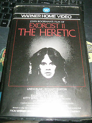 The Exorcist 2 Heretic  Big Box Warner Rare Vhs Pal Video Pre-Cert Clamshell