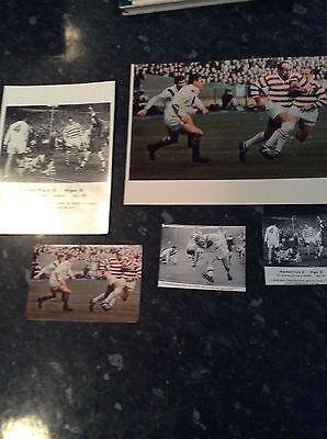 5 X Photographs - Wigan V Wakefield Challenge Cup Final 1963