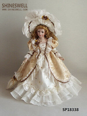 18in-46cm porcelain doll- handmade-victorian- Russia -giril-toy-gift.collection
