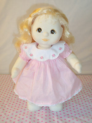 Vintage 1985 Mattel My Child Baby Girl Doll Blonde Long Hair Brown Eyes