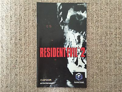MANUAL ONLY Resident Evil 2 - Nintendo GameCube Instructions Only