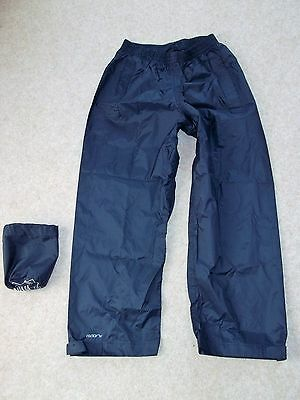 Mountain Warehouse Pakka Overtrousers. Navy Blue. Age 7 - 8Yrs. Excellent Condi