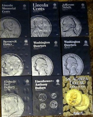 WHITMAN COIN Folders - Cents, Nickels, Quarters, 1/2 Dollars,Dollars [NO Coins]