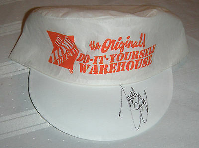 Vintage Autographed - Tony Stewart -The Home Depot Do It Yourself - Hat Cap