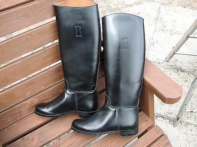 Loveson long black leather riding boots. Size 3.5
