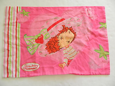 Vtg Strawberry Shortcake Pillowcase Butterfly Standard Size Made In USA