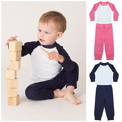 Baby Toddler Pyjama Set Pyjamas PJs Boys Girls Long Sleeve Trouser Set Nightwear
