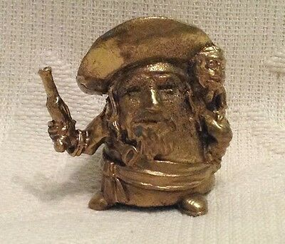 Russian Сollectible Decorative Brass Thimble Pirate with monkey on shoulder