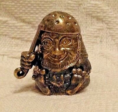 Russian Сollectible Decorative Brass Thimble Kitchen Brownie Goblin