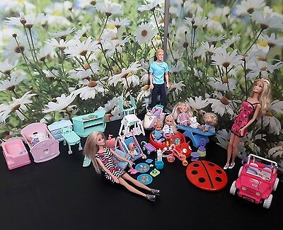 Barbie dolls bundle ( with babies play time set)