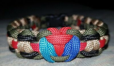 Help For Hero's 2017 Shield 550 Grade  Paracord Wristband 20% H4H Donation Inc
