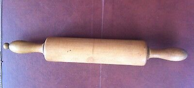 Rare Early/vintage/antique Wooden Rolling Pin With Central Spindle Kitchenalia