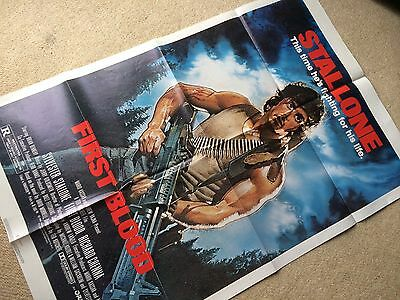 First Blood 1982 US One Sheet Folded Poster Stallone Original Film Good