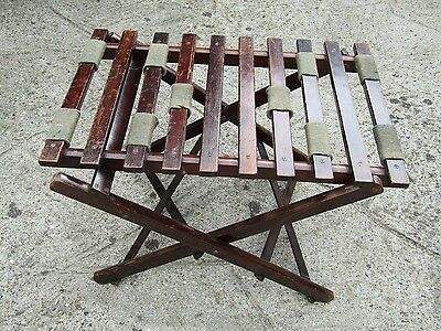 Antique Early 20th Century Mahogany Folding Luggage Stand / Rack