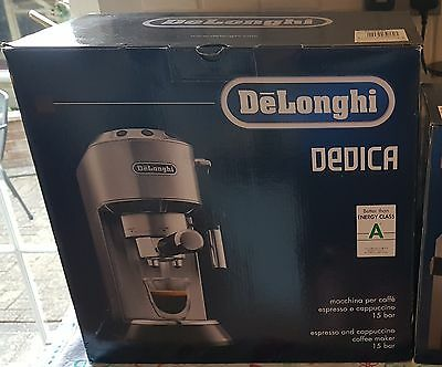 Delonghi Dedica Silver Coffee Machine Boxed With Attachments