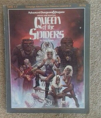 GDQ1-7 Queen of the spiders 1E AD&D RPG roleplaying adventure module book